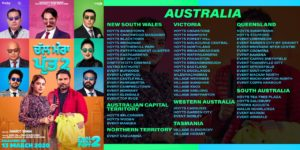Chal Mera Putt 2: Australia and New Zealand Theatre List