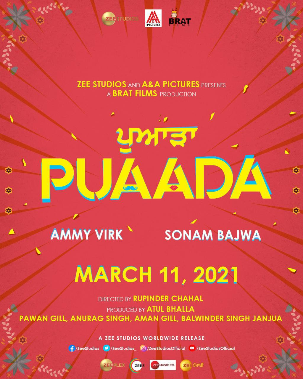 Puaada Releasing On 11th March 2021